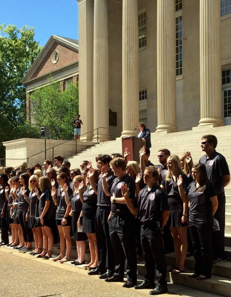 UA AHC swearing-in ceremony at Convocation on the Quad, August 2016